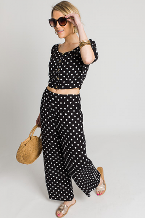 Ava Dotted Set, Black