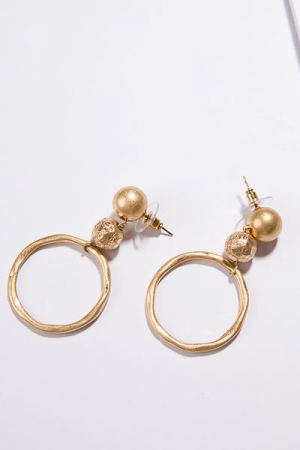 Bauable Ball Earring, Gold