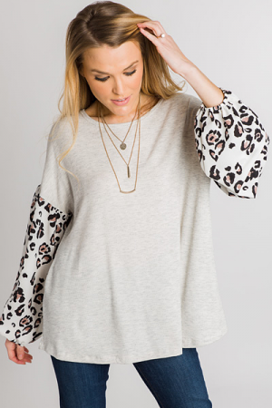 Leopard Sleeves Thermal