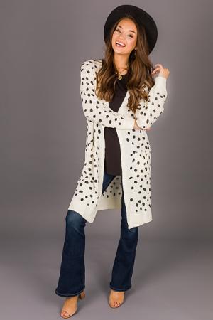 Dalmatian Sweater Cardi, Cream