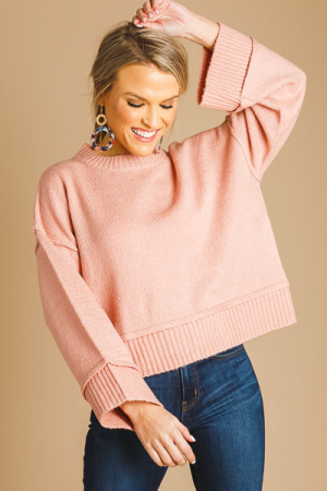 Dusty Pink Cropped Sweater