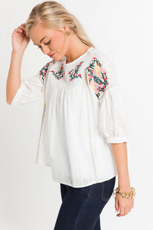 Free Bird Embroidered Blouse