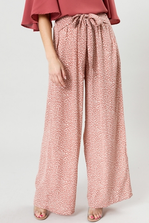 Wild Thing Tie Pants, Dusty Rose