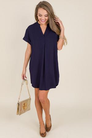Felicity Dress, Navy