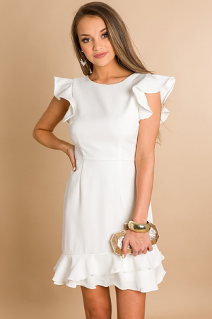 High Tea Dress, White