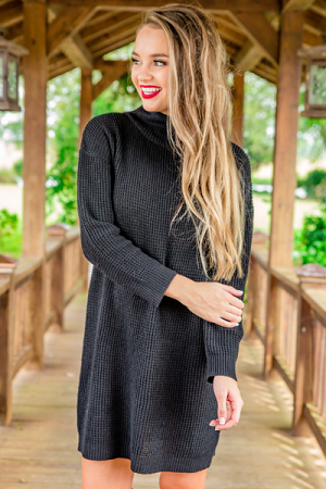 Sparrow Sweater Dress, Black