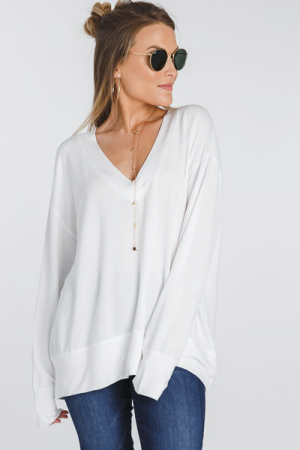 Best Knit Tunic, Ivory