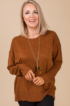 Simplicity Sweater, Hazelnut