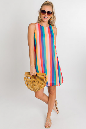 Carnival Stripe Tank Dress