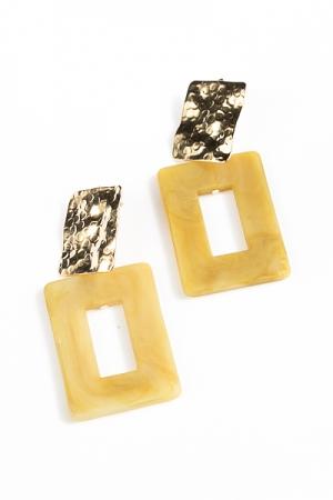 Acrylic Rectangle Earrings, Olive