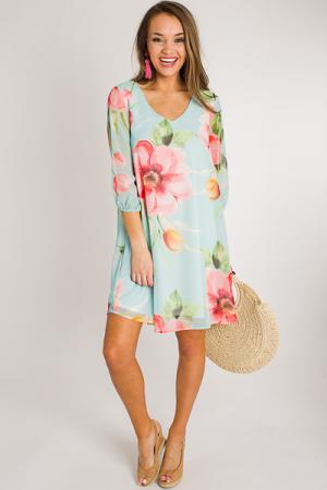 Bold Florals Chiffon Dress