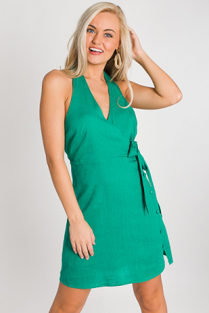 Kelly Button Halter Dress