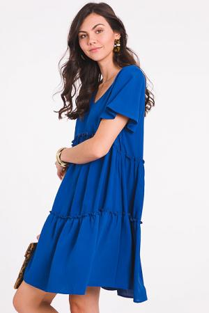 Maggie Babydoll Dress, Blue
