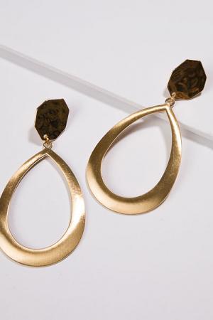 Oval Drop, Satin Gold