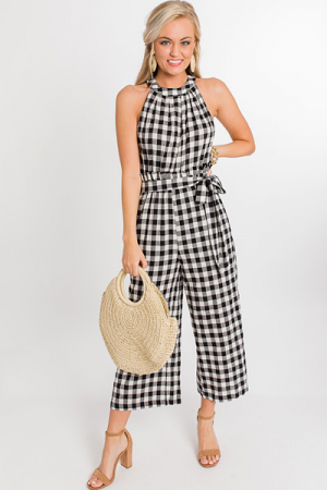 Mo Gingham Jumpsuit