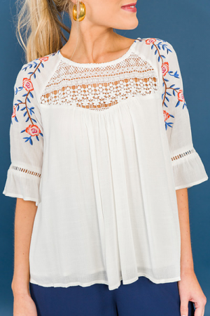 Zoe Embroidered Top