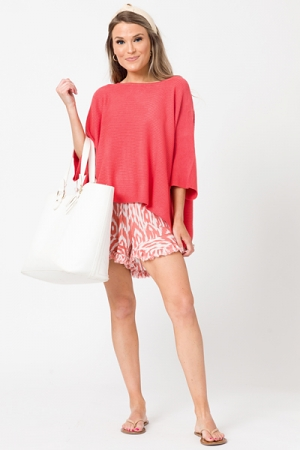 Spring Fling Sweater, Coral