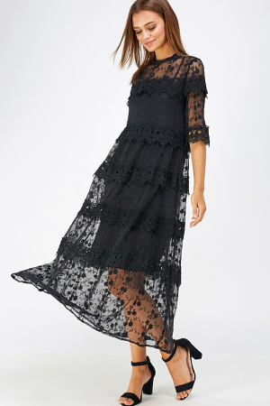 Slip on By Lace Maxi, Black