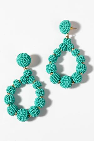 Bead Ball Teardrops, Turquoise