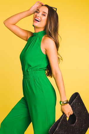 Up All Night Jumpsuit, Green