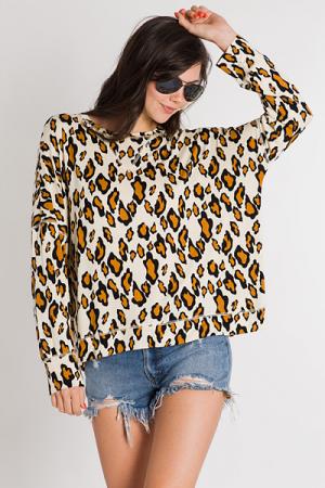 Caramel Leopard Pullover