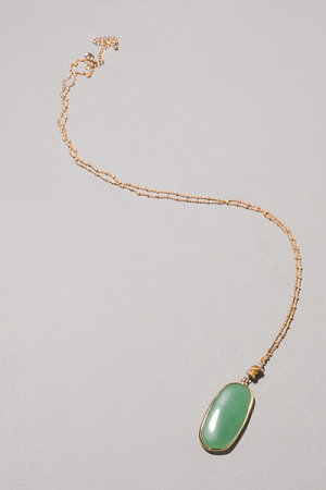 Drop It Necklace, Green
