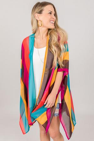 Magenta Rainbow Kimono