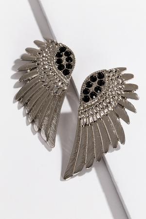 Fly Away Earrings, Silver