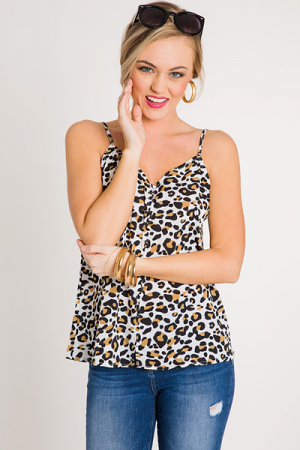 Leopard Button Cami