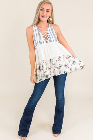 Livi Lace Up Tank