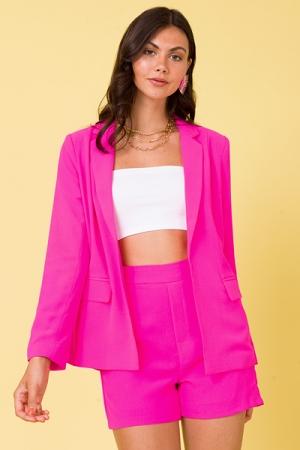 Lime Light Blazer, Ultra Pink