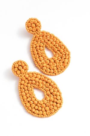 Bubble Bead Earring, Light Orange