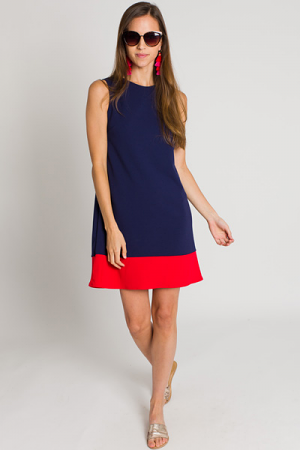 Twiggy Colorblock Shift, Navy
