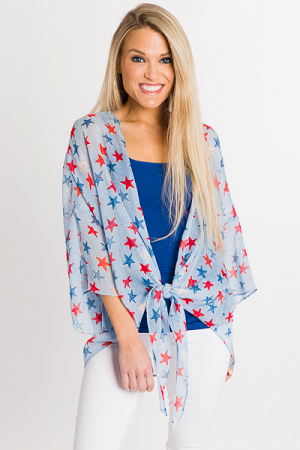 Star Spangled Kimono