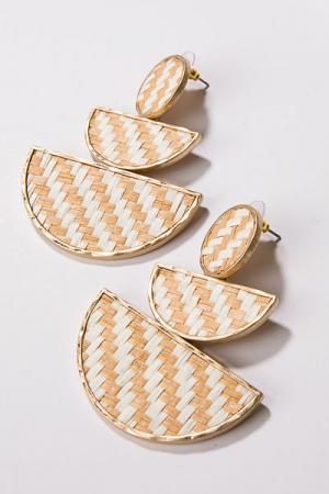 Basket Weave 3 Drop Earring