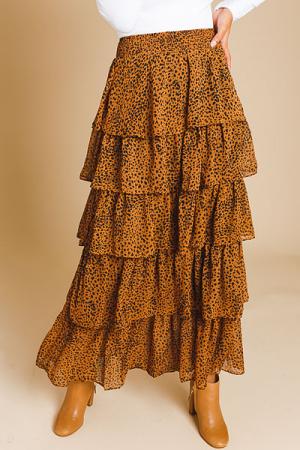 Dancing Cheetah Maxi Skirt