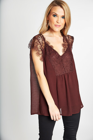 Eyelash Lace Top, Coco