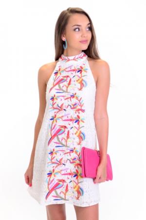 Parrot Island Lace Dress