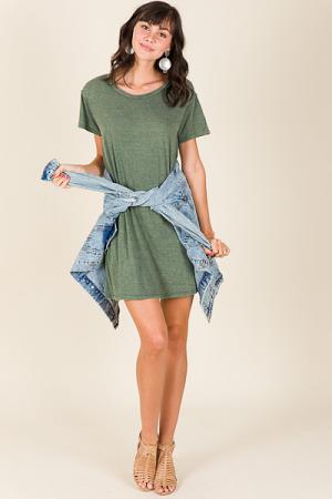 Washed Away Dress, Green
