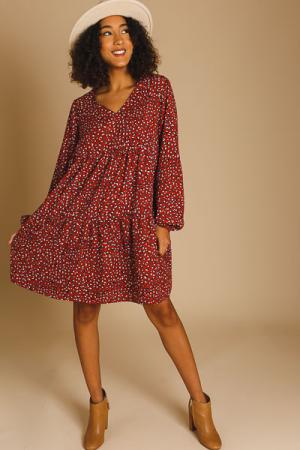 Rustic Cheetah Tiered Dress