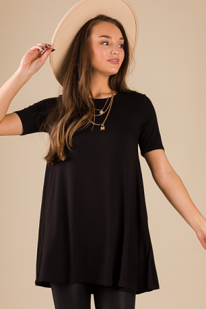 Necessary Tunic Tee, Black