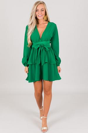 Mazzy Tie Dress, Green