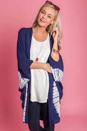 Indigo Tie Dye Kimono