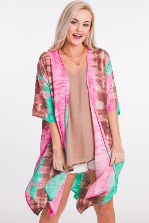 Pink Mint Kimono
