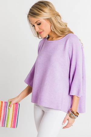 Spring Fling Sweater, Lavender