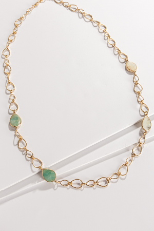 Sea Glass Link Necklace