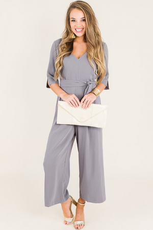 Nora Jumpsuit, Grey