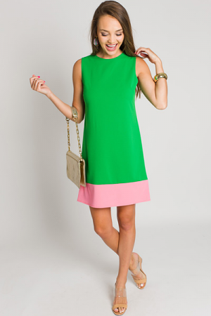Twiggy Colorblock Shift, Green
