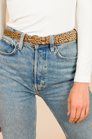 Classic Thin Belt, Leopard