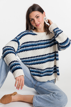 Winter Blues Chenille Sweater